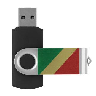 Congo-Brazzaville Flag USB Flash Drive