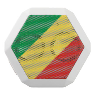 Congo-Brazzaville Flag White Bluetooth Speaker