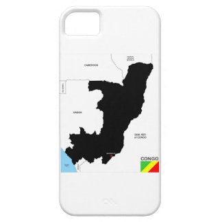 congo country political map flag iPhone 5 cover