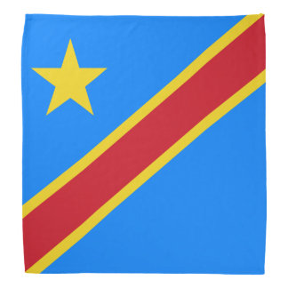 Congo - Democratic Republic of the Congo Flag Bandana