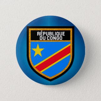 Congo Flag 6 Cm Round Badge
