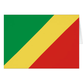 Congo Flag Note Card