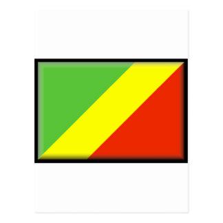 Congo Flag Postcard