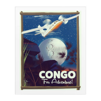 Congo For Adventure! travel poster Acrylic Wall Art