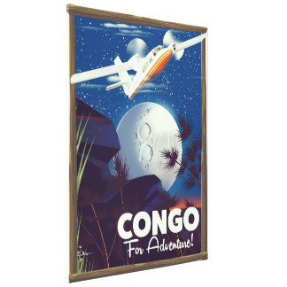 Congo For Adventure! travel poster Canvas Print