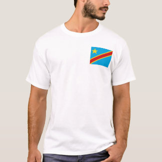 Congo-Kinshasa Flag and Map T-Shirt