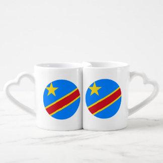 Congo-Kinshasa Flag Coffee Mug Set