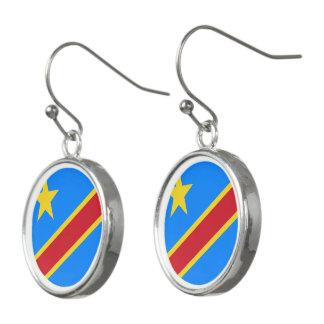 Congo-Kinshasa Flag Earrings