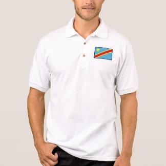 Congo Kinshasa flag golf polo