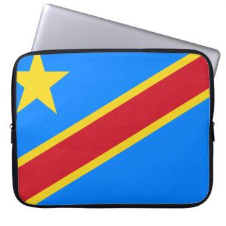 Congo-Kinshasa Flag Laptop Sleeve