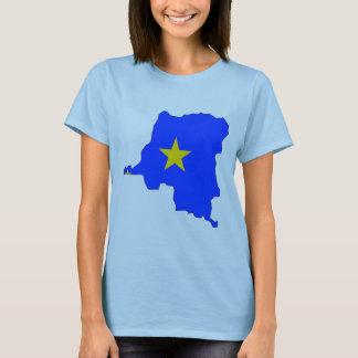 Congo Kinshasa flag map T-Shirt