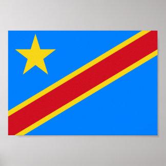 Congo-Kinshasa Flag Poster