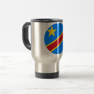 Congo-Kinshasa Flag Travel Mug