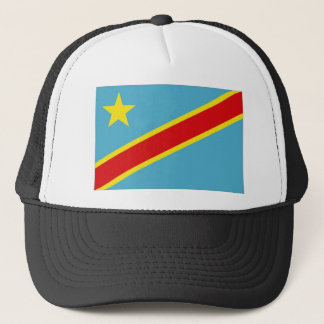 Congo Kinshasa National Flag Trucker Hat
