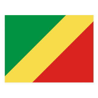 Congo National World Flag Postcard
