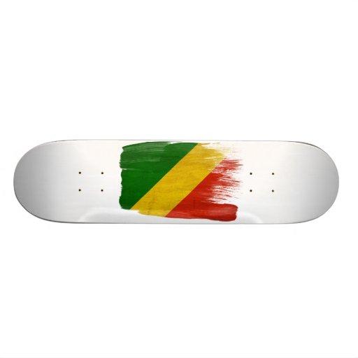 Congo Republic Flag Skate Decks