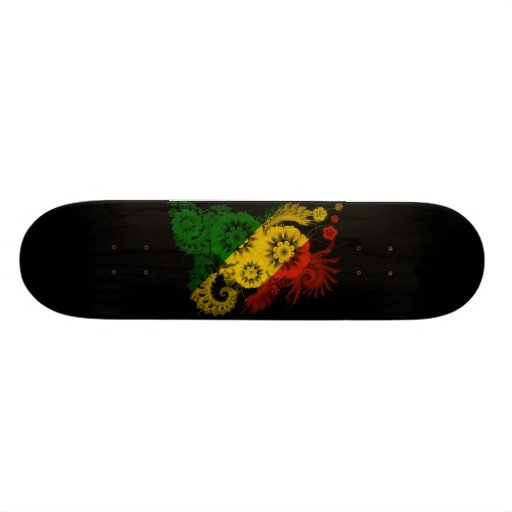 Congo Republic Flag Skateboard