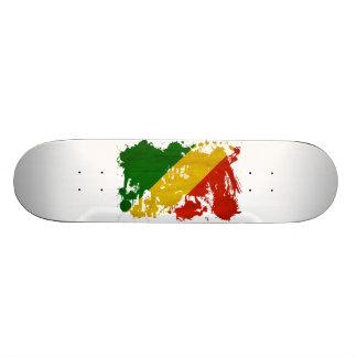 Congo Republic Flag Skate Deck