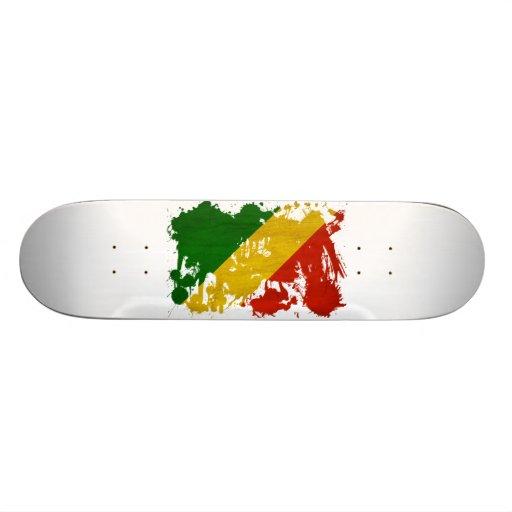 Congo Republic Flag Skate Boards