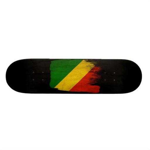 Congo Republic Flag Custom Skate Board