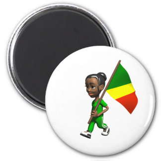 Congolese Girl Magnet