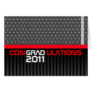 Congradulations Class Of 2011 Card Black Red