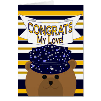 Congrats Active Duty My Love - Husband / Boyfriend Greeting Card