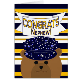 Congrats Active Duty - Nephew Greeting Card