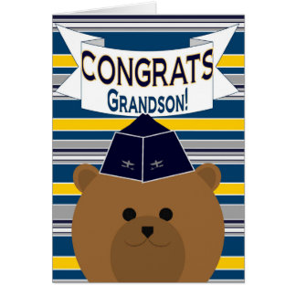 Congrats - Air Force - Grandson Card