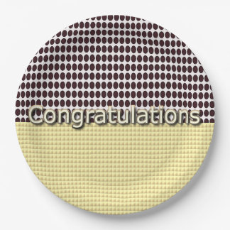 Congrats-Chocolate-Drops-Gold-Multi-Sz Paper Plate