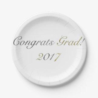 Congrats Grad! 2017 Paper Plate