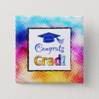 Congrats Grad Colors, Fun 15 Cm Square Badge