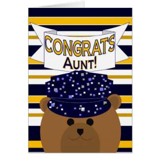 Congrats Navy Active Duty - Aunt Greeting Card