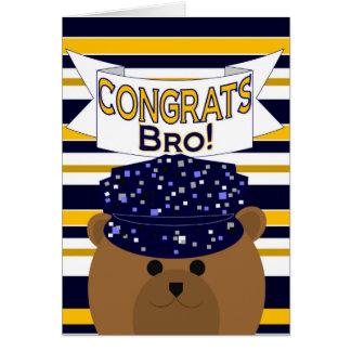Congrats Navy Active Duty - Brother / Bro Greeting Card