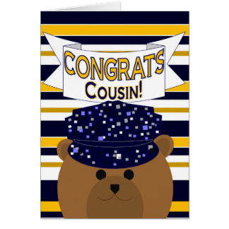 Congrats Navy Active Duty - Cousin Greeting Card