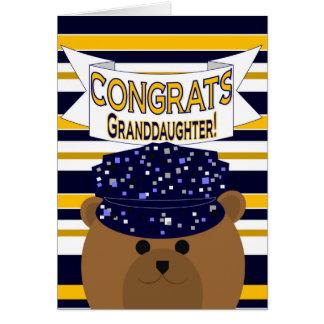 Congrats Navy Active Duty - Granddaughter Greeting Card
