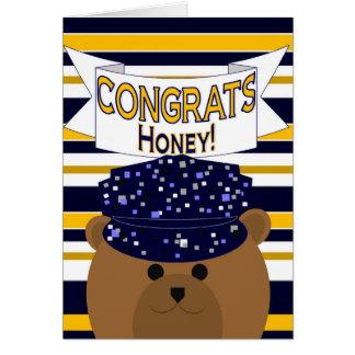 Congrats Navy Active Duty - Honey Girlfriend Wife Greeting Card