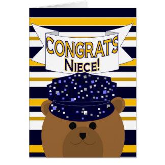 Congrats Navy Active Duty - Niece Greeting Card