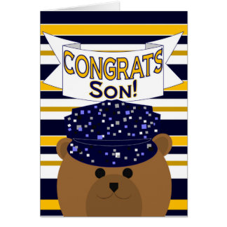 Congrats - Navy Active Duty - Son Greeting Card