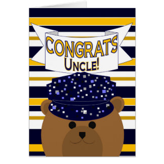 Congrats Navy Active Duty - Uncle Greeting Card