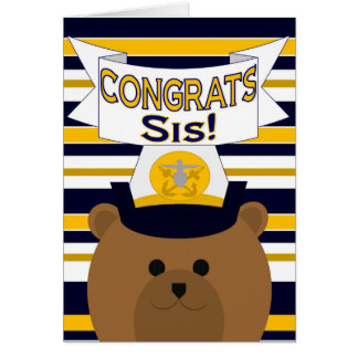 Congrats Navy Sister / Sis Card