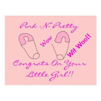 Congrats on baby Girl!! Postcard