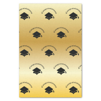 Congrats on Graduation Gold Tissue Paper