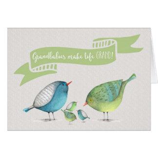 Congrats on Triplets-Grandbabies make life GRAND Card