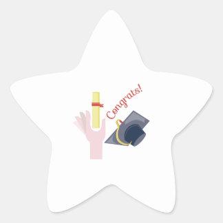 Congrats! Star Sticker