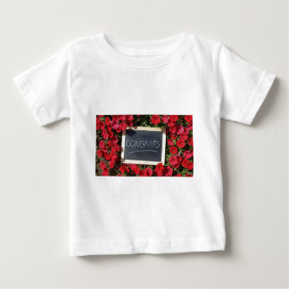 Congrats text written and save flowers baby T-Shirt