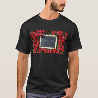 Congrats text written and save flowers T-Shirt
