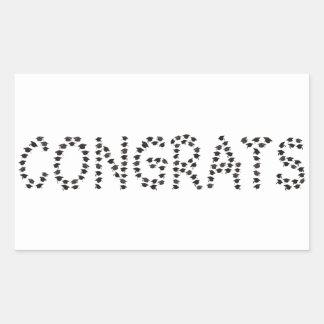 Congrats to the graduate rectangular sticker