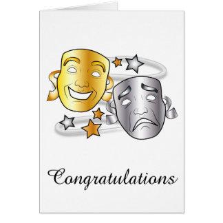 Congratulation Drama Performance Play with Masks Card