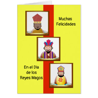 Congratulation for the Day of Kings Magos Card
